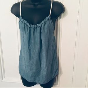 🛍Hippie Laundry Denim Rope Halter Top Small